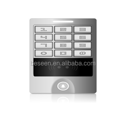 125khz EM-ID backlight rfid standalone keypad access control with external function