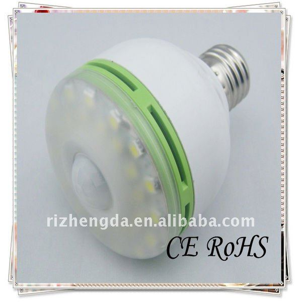 6W E27 led infrared sensor bulb light induction light