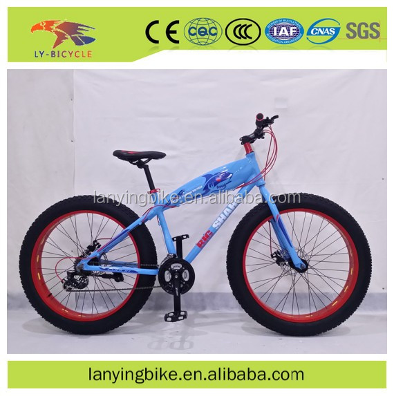 Shark double disc brake alloy frame 21 speed fat tyre bicycle / snow bike / beach cruiser bike