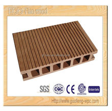 Light wood color bamboo plastic composite deck