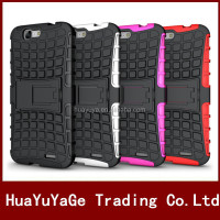 Dual Armor 2 in 1 TPU&PC kickstand case cover for Huawei Ascend G7