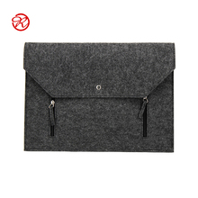 Alibaba Customized Grey 15.6 inch felt laptop carrying case