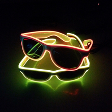 2018 Hot sale flashing party multi color light up el sunglasses