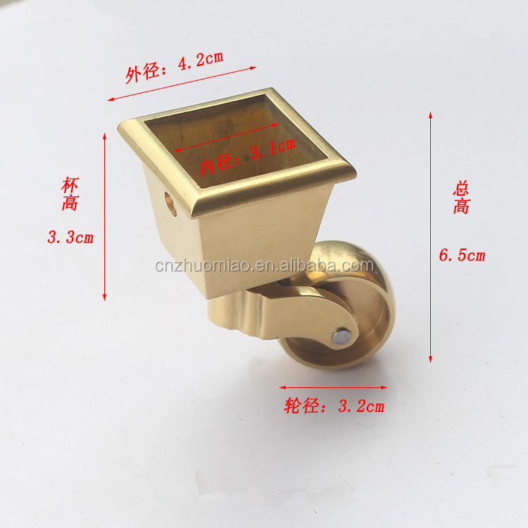 zhuomiao brass furniture caster cups piano caster cups