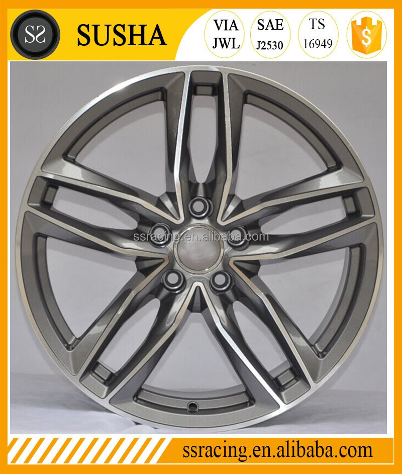 "SS Wheel Supply 18""19""20""21"" Sliver/gun metal machine replica aluminum alloy wheels for RS6"