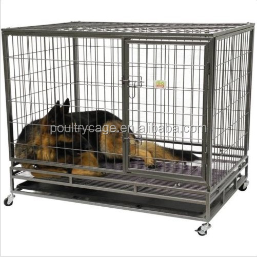 Designer Dog Crates Squar Tube Dog Cage With Wheels For Sale