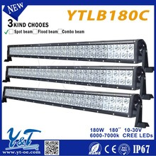 Y&T Energy Saving!!!12v Universal Fit 180w Black Housing Clear tractor led Fog light Bar