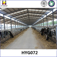 Low cost prefabricated metal cattle shed