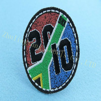 embroidery patch for fashion clothing custom 3D badge iron-on emblem epaulet