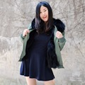 CX-G-P-17D Wholesale Price Fashion Fox Fur Parka Jackets Winter Parka Jackets