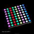 Dia.5mm 8*8 rgb led dot matrix 60.2*60.2mm 8x8 dot rgb led matrix