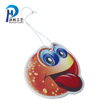 New Factory Cheap Wholesale Promotion Gel Custom hanging Paper Car Scent Air Freshener welcome OEM design