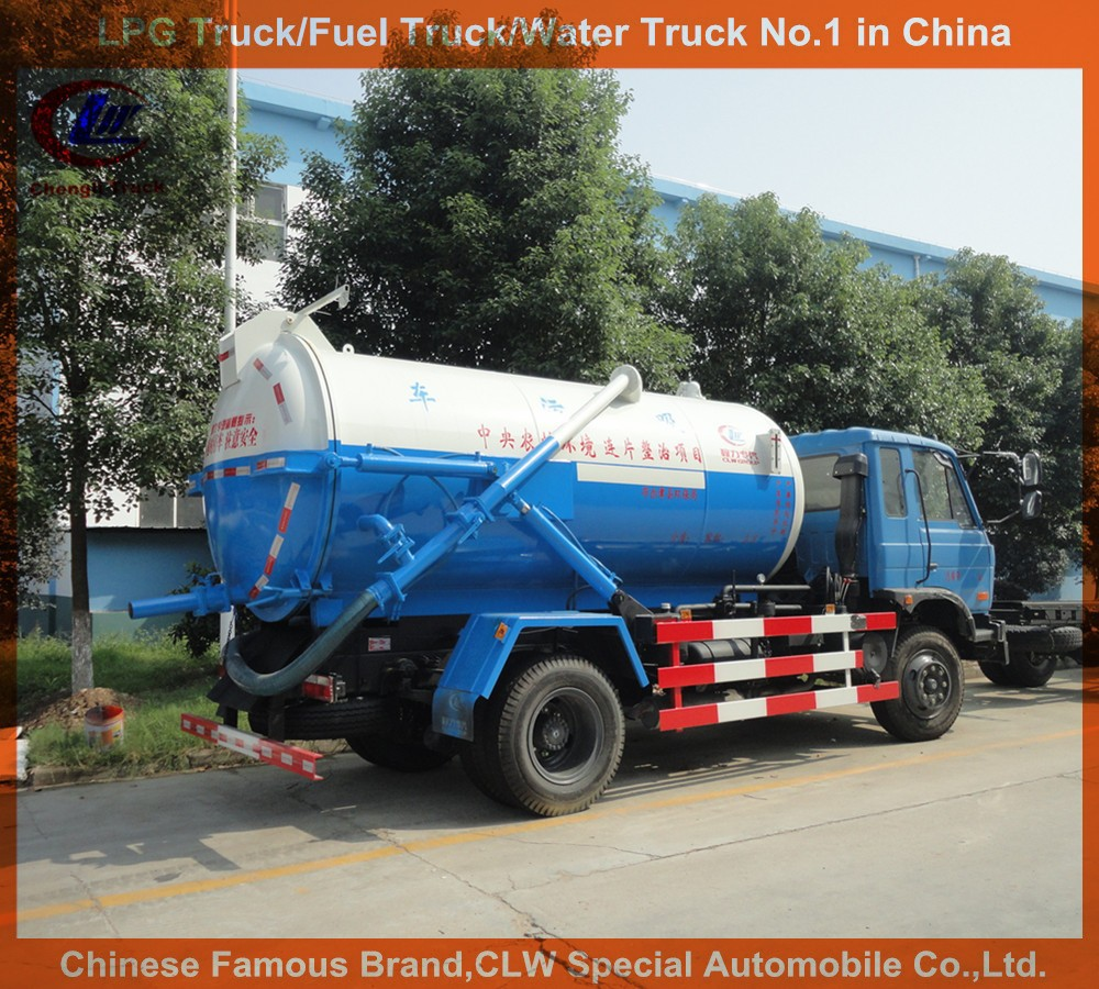 dongfeng sewer suction truck 10000L sewage tank truck 10cbm septic vacuum truck