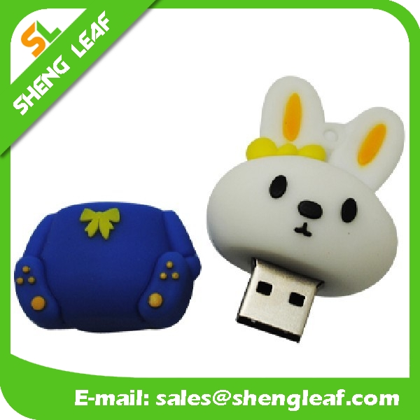 Rubber Animal Rabbit Shape USB Flash Drives