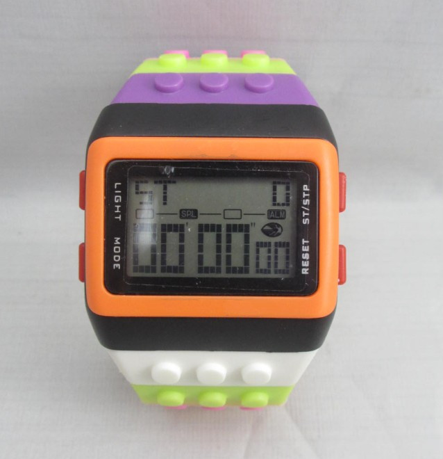 Rainbow watch, led light up watches, men's led light up watches