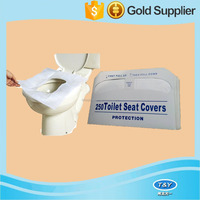 snow white color paper disposable toilet seat cover