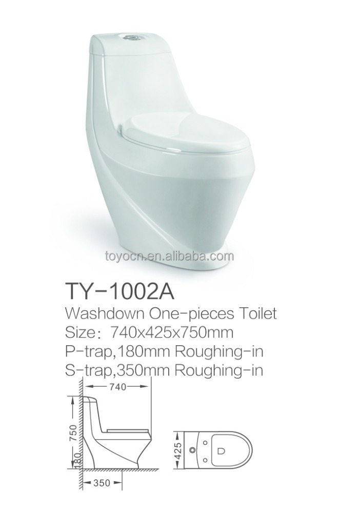 Washdown S Trap 250mm One-piece Toilet