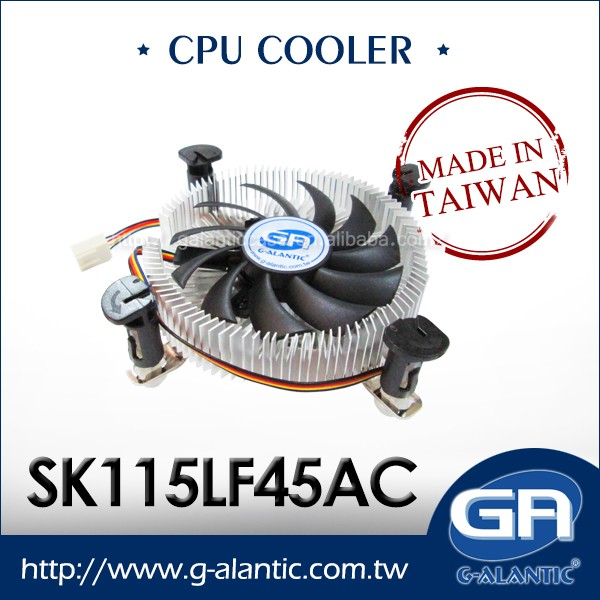 SK1155LF45AC Intel i3.i5/i7 Low Profile CPU Cooler Fan with Heatsink