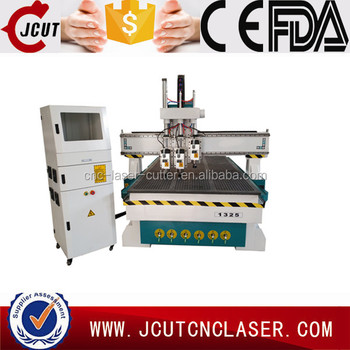 China 1325 pneumatic tool changing woodworking cnc router stone metal