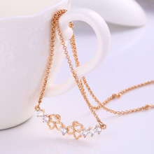 41829-Xuping Light weight gold female jewelry necklace