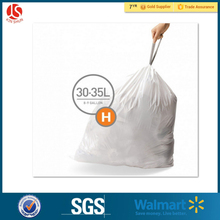 Disposable Emergency Plastic Drawstring Garbage Bag