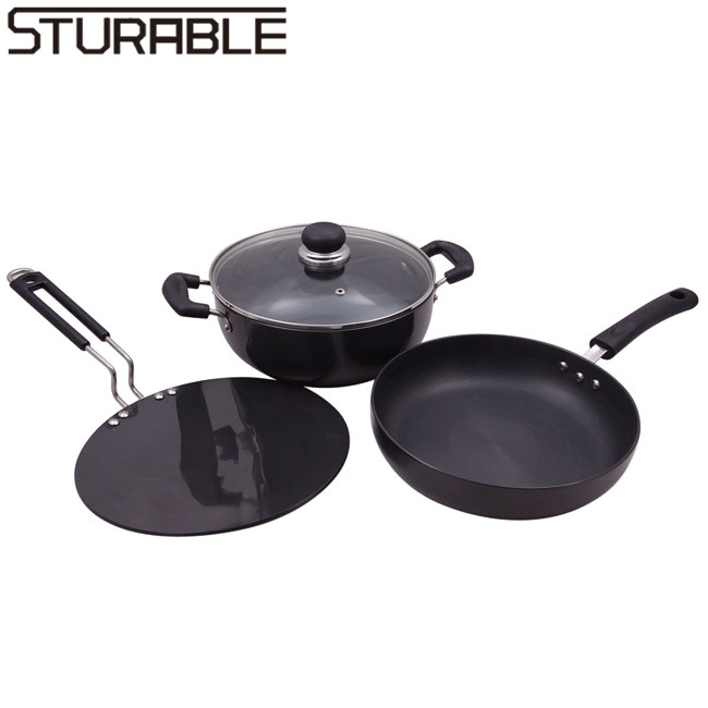Forged Aluminium Ceramic Cooking Pots and Pans Set
