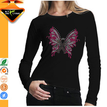Long sleeves black t shirt factories that make clothes