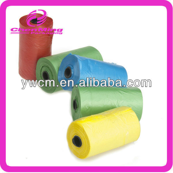 Yiwu dog pick up biodegradable plastic roll bags