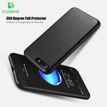 FLOVEME 360 degree PU Leather Case For IPhone 6,FLOVEME Back Cover Case For IPhone 7