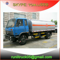 China fuel tank truck manufactures for dongfeng 153 EQ5161 12000 liters used oil tank truck sale in india