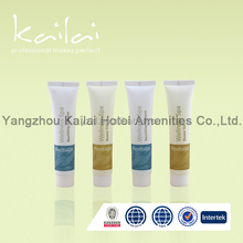 small clear plastic tube hotel use shampoo container/shampoo for high-quality clients/compact cosmetic packaging bottle