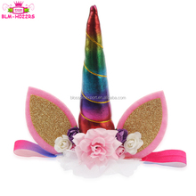 Glitter Metallic Rainbow Unicorn Horns Headband For Girls And Kids Birthday Gift Unicorn Party Hair Accessoires