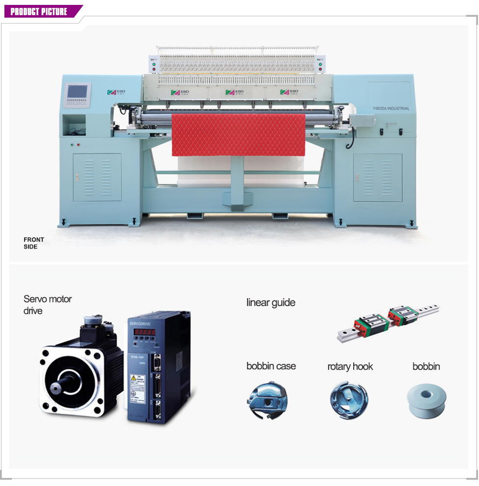 YBD70-2 intelligent Computerized rotary shuttle multi-needle quilting machine
