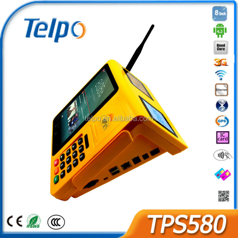 Telpo TPS580 3G Wifi Touch Screen RFID Cheap POS System