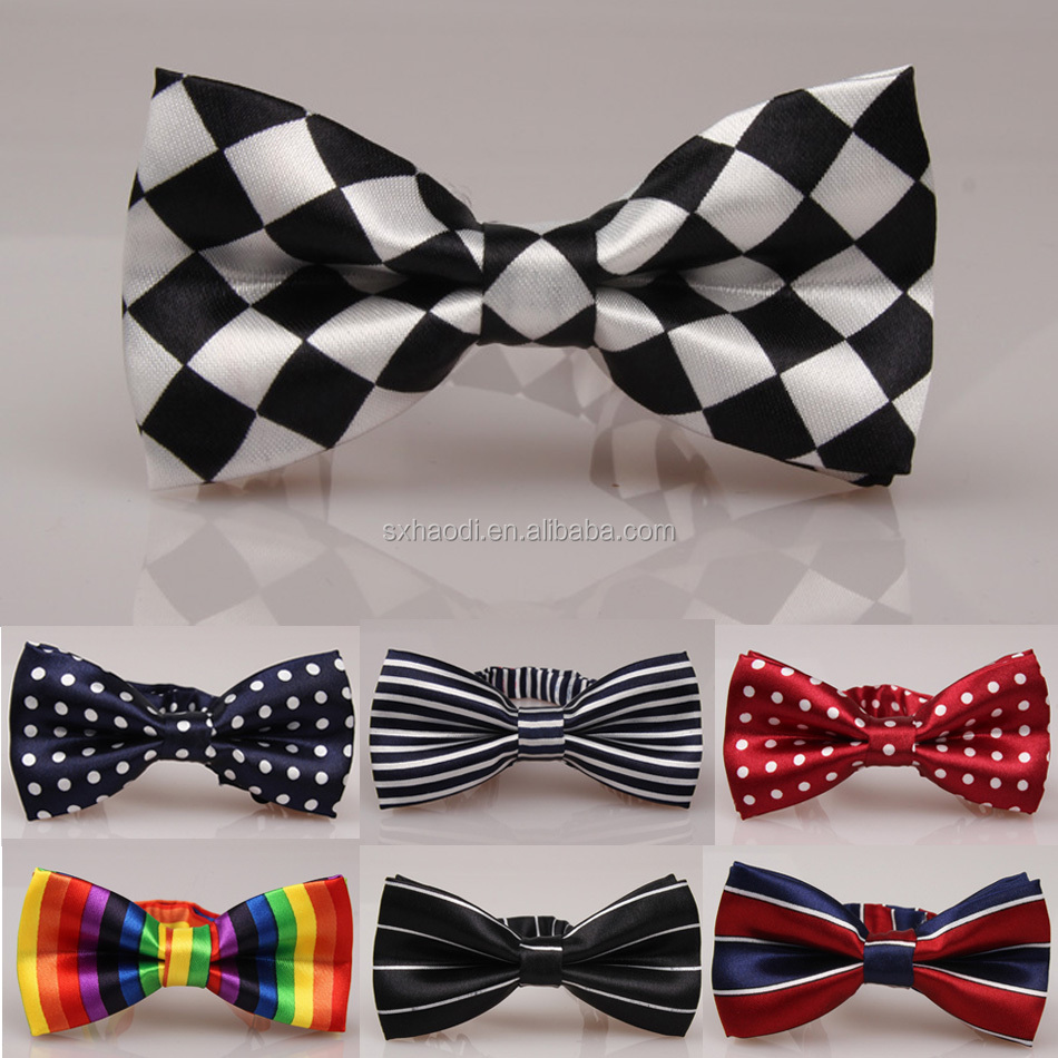 Polyester/Cotton custom printted fabric kids' bow tie for children