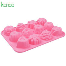 Different shape of flower cake pan muffin tray 12 cup bar soap molds