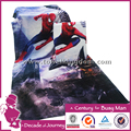 hot customized 4K digital printed beach towel lovely beautiful spider-man towel low moq beset seller fast delivery