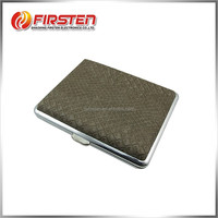 High Quality Wholesale Fashion Steel + PU custom leather cigarette case