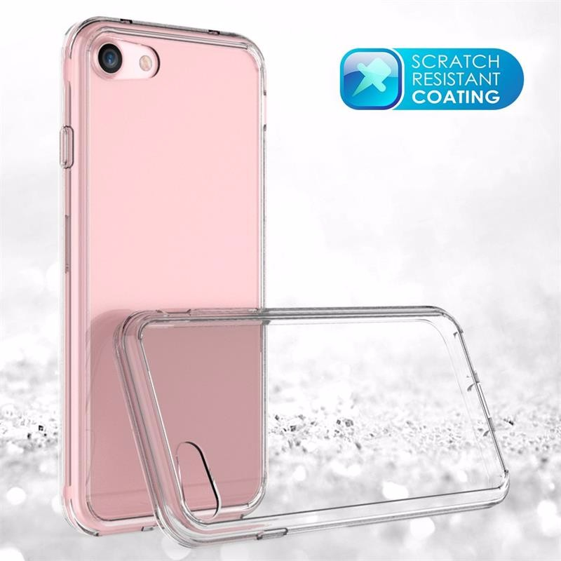 Wholesale Frosted TPU bumper + PC Hard Back Clear Transparent Phone Case For iPhone 7/7 plus