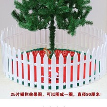 Wholesale creative christmas tree decorate plastic small garden white fence