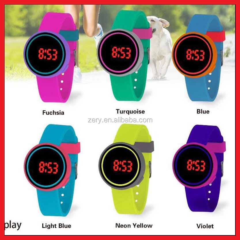 R0961New popular alloy watches men, touch screen led watch display fitness watch