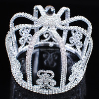 "Stunning Rhinestones Crowns 4"" King Prince Tiaras Pageant Party Costume"