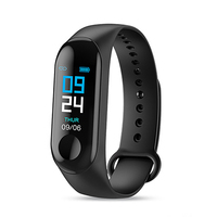 2019 hot sale fitness band color-screen smart bracelet m3 band 3 smart watch with yoho sports app