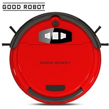 Good Robot 740C red double rushes mini home appliance intelligent robotic vacuum cleaner