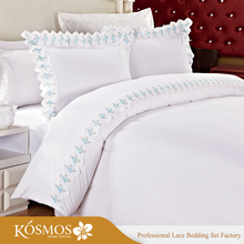 KOSMOS Bedding Polycotton Embroidery Lace Bedsheets Wholesale American Bedding King Size