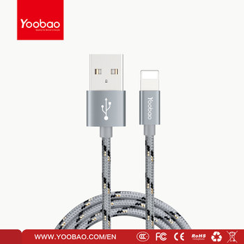 YOOBAO summer hot sell new fantastic colorful mobile phone data cable