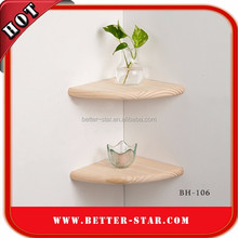 Eco-friendly and Folding triangle shaped display wall shelves