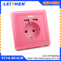 TUV approved Germany usb wall charger 2 usb 5V 2100mA compatible with all devices like ipad iphone
