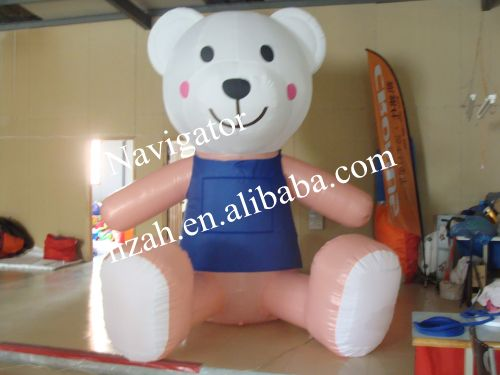 2016 Hot sale big inflatable bear for advertising/hot sale customized inflatable bear model