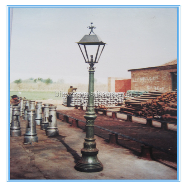 Iron casting poles for lamp,casting iron residential lighting poles,lighting fixtures lamp posts